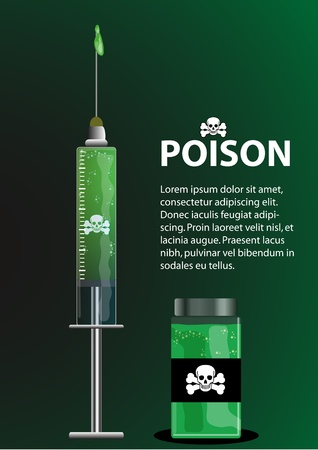 ampoule: A Stock of poison syringe and ampoule  Nice to be use as posters