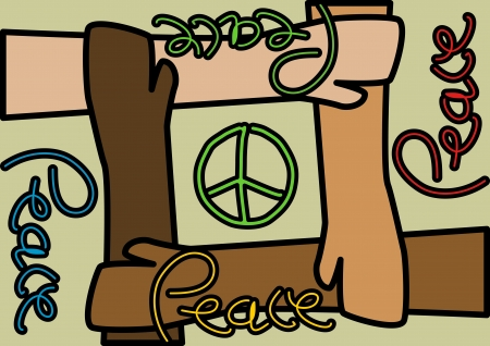 brings: A Stock illustration of people unite together to brings peace regardless race and religion