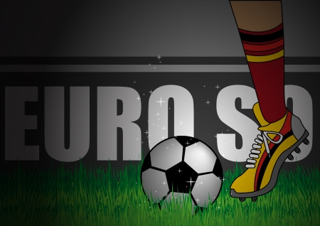 corner kick:  Illustration of Germany Deutsch team kick off Illustration