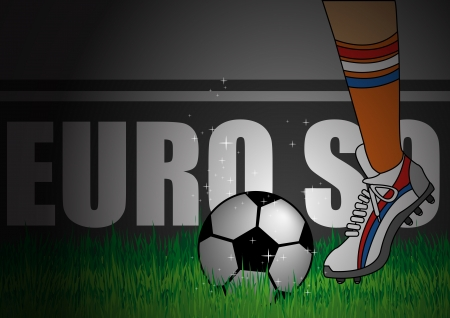 football shoe: Illustration of Netherland team kick off