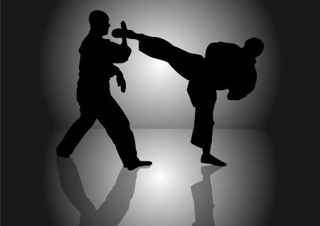 kumite: Stock Vector Illustration of Karate Kumite