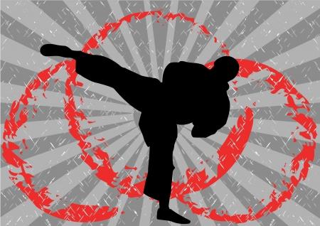 kumite: Stock Vector Illustration of Karate Icon