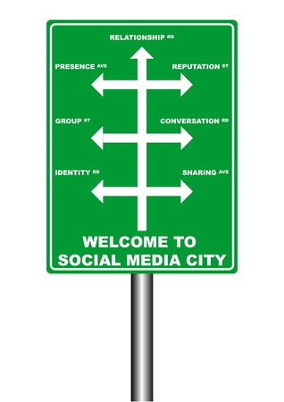 illustration of Social Media Signboard Vector