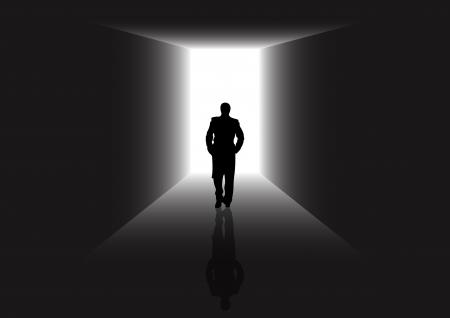 leven en dood: De illustratiebeschrijving van een poort naar nieuw leven