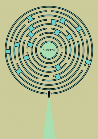 Walk to the maze of success Stock Vector - 15928231