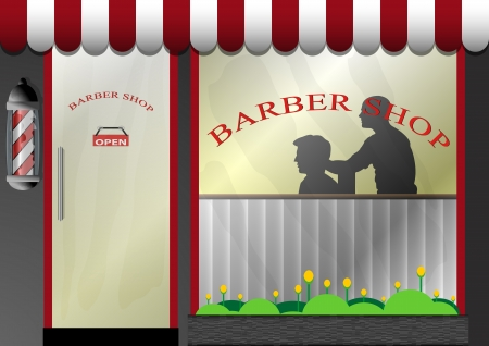 barbershop pole: Illustrazioni vettoriali di Barber Shop