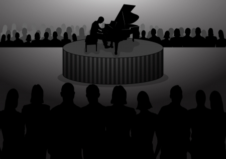 Stock Vector Illustration of Piano Concert Vector