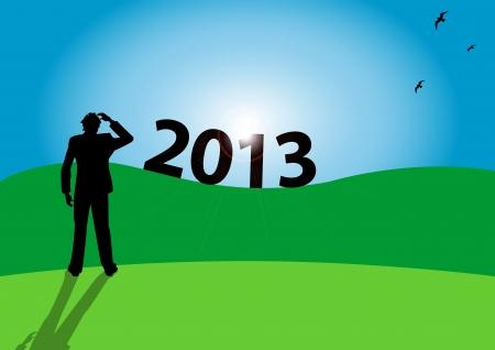 festivities: Stock Vector Illustration of new year 2 Illustration