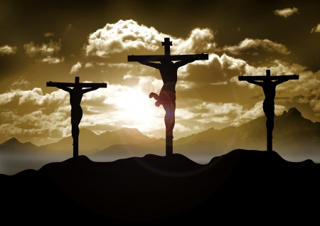 Stock illustration of Christ Crucified