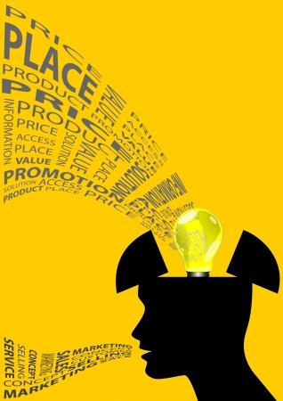 output: Stock illustration of Marketing thinker 2