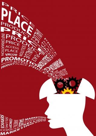 Stock illustration of Marketing thinker 1 Stock Vector - 18119705