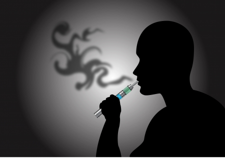 Stock Vector illustration of Vaping