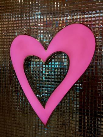 Heart on Glass mozaic texture