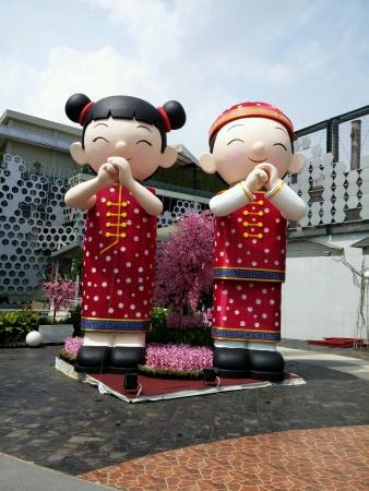 Chinnese new year statue