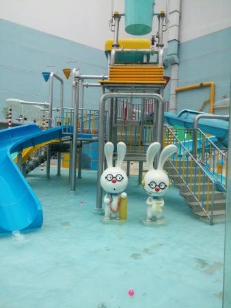 Kids water park Stock Photo