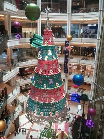 Christmas tree at shopping mall