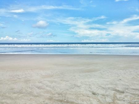 White sand beach at Wanasalam West Java