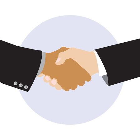 peace treaty: Simple Business Cartoon Vector Illustration Icon of Friendship or Peace or making a deal or teamwork
