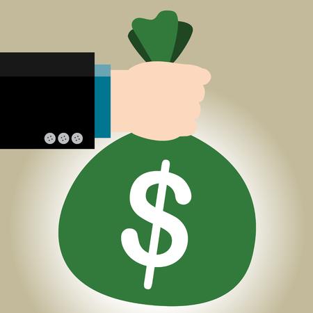 commision: Simple business illustration of a businessman give Big Rewards Illustration
