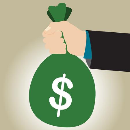 commision: Simple business illustration of businessman give very Big Rewards Illustration