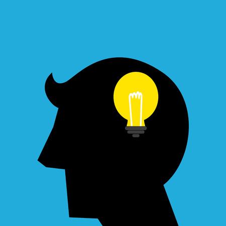 Simple silhouette illustration of ideas