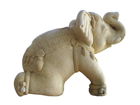 elephant sculpture from  stucco Stock Photo - 17502109