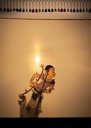 Thai Shadow puppet - cutural art of Sounthern, Thailand