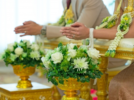 Thailand traditional wedding ceremony  photo