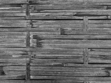 Textura de bambu tecer na cor preto e branco.