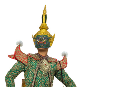 Pipek; one character of Thai traditional dance of the Ramayana Epic Saga. Stock Photo