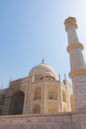 Close-up of Taj Mahal  in Agra, India. It always has to be repaired to keep good condition.