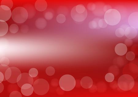 Bokeh background vector designed in in red color and soft light; art bokeh illustrationin red. Ilustração