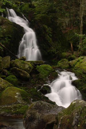 Mouse Creek Falls - Smoky Mountain Waterfall Stock Photo - 12781175