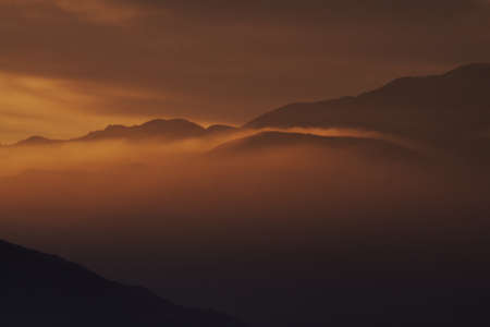 Beautiful Pollution - Sunset In Palm Springs, California Stock Photo