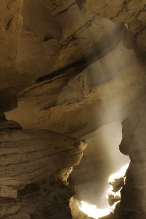 light beam in slot canyon