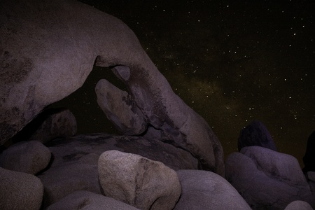 Arch Rock at Night - Joshua Tree National Park photo