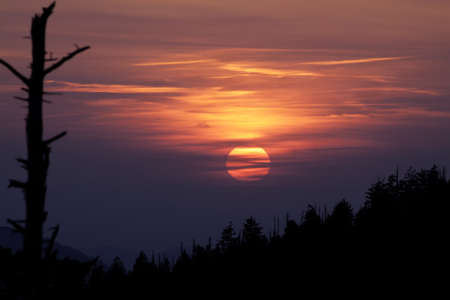 Sunset in the Smoky Mountains - Great Smoky Montains National Park