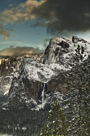 Winter Storm over Bridalveil - Yosemite National Park, CA photo