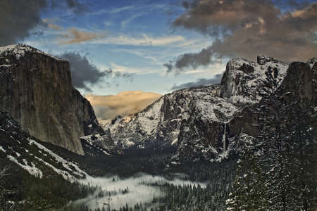 Winter Tunnel View - Yosemite National Park, CA photo