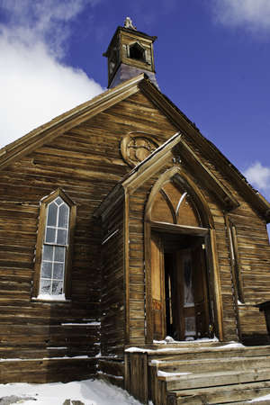 Old Chapel in Bodie Historical Park, CA