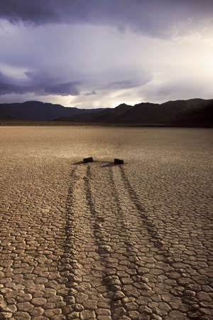 Mystical Moving Rocks at the Racetrack - Death Valley National Park, California photo