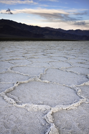 Salt Formations at Badwater - Death Valley National Park Stock Photo