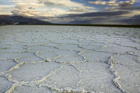 Badwater Basin - Death Valley National Park Stock Photo
