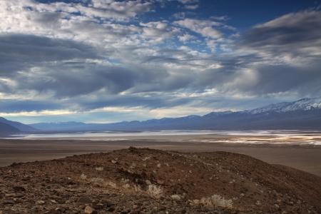 Desrt Floor in Death Valley National Park, California Stock Photo