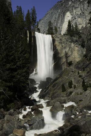 Sierra Waterfall in Yosemite, California photo