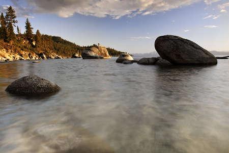 Boulders in Lake Tahoe, California Stock Photo