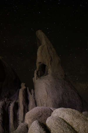 Interesting rock formation and a starry night photo