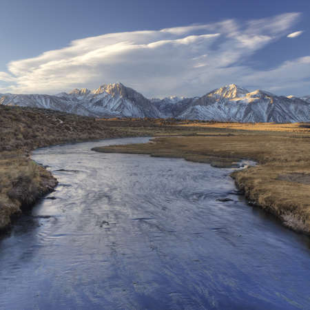 Owen s river and the Sierra Mountains