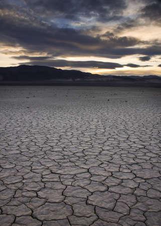 Death Valley desert floor Stock Photo