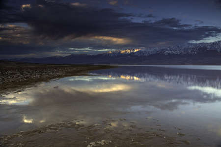 Reflections in Death Valley s badwater basin Stock Photo - 14773202